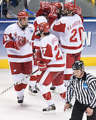 Jack Skille, Ross Carlson - The University of Wisconsin Badgers defeated the University of Maine Black Bears 5-2 in their 2006 Frozen Four Semi-Final meeting on Thursday, April 6, 2006, at the Bradley Center in Milwaukee, Wisconsin.  Wisconsin would go on to win the Title on April 8, 2006.