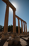 Pillars still standing in Jerash