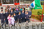 GREEN FLAG AWARD: Teachers, students and their families of Rathmorrell NS at the award ceremony for their Green Flag on Tuesday.   Copyright Kerry's Eye 2008