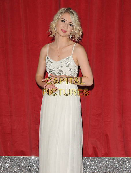 Ashley Slanina Davies at the British Soap Awards 2017, The Lowry Theatre, Pier 8, Salford Quays, Salford, Manchester, England, UK, on Saturday 03 June 2017.<br /> CAP/CAN<br /> &copy;CAN/Capital Pictures