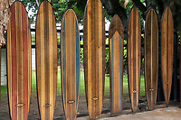 Surfboard gate. Oahu, Hawaii