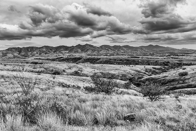 Dramatic skies along the Patagonia savannah, with the mountains as a backdrop. The backroads offer beauty and solitude.