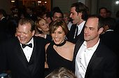 "Drew Carey, Mariska Hargitay and Christopher Meloni share a laugh at the 2003 White House Correspondents Dinner, Washington, DC, April 26, 2003.  Hargitay and Meloni star in the NBC series ""Law and Order: Special Victims Unit"". .Credit: Ron Sachs / CNP"