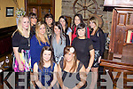 Joint birthday celebrations for Liz Guiney from Rockchapel and Louise O'Connor from Abbeyfeale pictured here celebrating in Leen's Hotel, Abbeyfeale last Saturday night, also pictured l-r: Noirin O'Connor, Trina O'Callaghan, Aine Scanlon, Laura Leahy, Elaine Murphy, Ciara Murphy, Siobhan Walsh, Helena Cullinane and Ellen Brosnan.