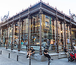 Mercado de San Miguel market historic building exterior, Madrid city centre, Spain built 1916