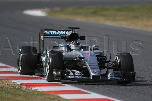 22.02.2016. Circuit de Catalunya, Barcelona, Spain. Spring F1 testing and new car unvieling for 2016-17 season.  Mercedes AMG Petronas F1 W07 Hybrid – Nico Rosberg
