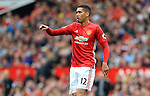 Chris Smalling of Manchester United points during the Premier League match at Old Trafford Stadium, Manchester. Picture date: September 24th, 2016. Pic Sportimage