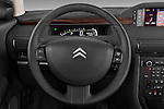 Steering wheel view of a 2005 - 2012 Citroen C6 Exclusive Sedan.
