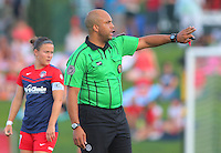 Boyds, MD - Saturday July 09, 2016: Brandon Artis during a regular season National Women's Soccer League (NWSL) match between the Washington Spirit and the Chicago Red Stars at Maureen Hendricks Field, Maryland SoccerPlex.