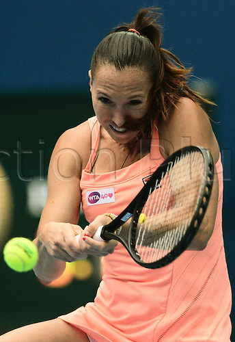 Oct 05, 2013; Beijing, CHINA; Jelena Jankovic of Serbia defeats Petra Kvitova of Czech 2:1 (6-7, 6-1, 6-1) during a women's semifinal match at the Tennis China Open.