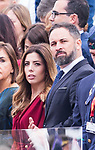 President of VOX Santiago Abascal and his wife during the Military parade because of the Spanish National Holiday. October 12, 2019.. (ALTERPHOTOS/ Francis Gonzalez)