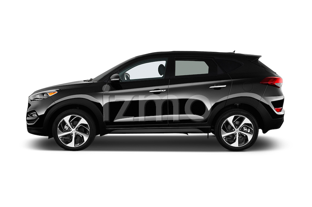 Car Driver side profile view of a 2016 Hyundai Tucson Limited 5 Door Suv Side View