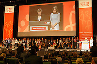 A one minute moment of remembrance was held in the honour of six delegates who lost their lives in the MH17 crash at the opening session of the 20th International AIDS Conference in Melbourne, Australia.<br /> For licensing of this image please go to http://demotix.com
