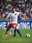 Zlatan Ibrahimovic of Paris Saint-Germain in action during Kitchee SC vs Paris Saint-Germain during the The Meeting of Champions on July 29, 2014 at the Hong Kong stadium in Hong Kong, China.  Photo by Aitor Alcalde / Power Sport Images
