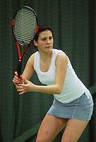 10-3-06, Netherlands, tennis, Rotterdam, National indoor junior tennis championchips, Aleksandra Malovic