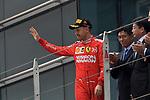 14.04.2019, Shanghai Audi International Circuit, Shanghai, 2019 FORMULA 1 HEINEKEN CHINESE GRAND PRIX<br /> im Bild<br />3.Platz f&uuml;r Sebastian Vettel (GER#5), Scuderia Ferrari<br /> <br /><br /> <br /> Foto &copy; nordphoto / Bratic