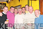Sharing stories: At the Barbecue at Dr Crokes Clubhouse last Friday night were, l-r: Tommy Brosnan, Patrick OSullivan, Katie Leahy, Mossie Hartman, James Hurley, Aidan Kavanagh, Jim Connlly and Eddie Tatler OSullivan..