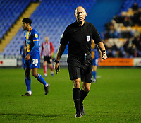 Referee Andy Haines<br /> <br /> Photographer Andrew Vaughan/CameraSport<br /> <br /> The EFL Sky Bet League One - Shrewsbury Town v Lincoln City - Saturday 11th January 2020 - New Meadow - Shrewsbury<br /> <br /> World Copyright © 2020 CameraSport. All rights reserved. 43 Linden Ave. Countesthorpe. Leicester. England. LE8 5PG - Tel: +44 (0) 116 277 4147 - admin@camerasport.com - www.camerasport.com