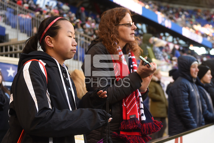 Harrison, NJ - Saturday, March 04, 2017: Fans prior to a SheBelieves Cup match between the women's national teams of the United States (USA) and England (ENG) at Red Bull Arena.