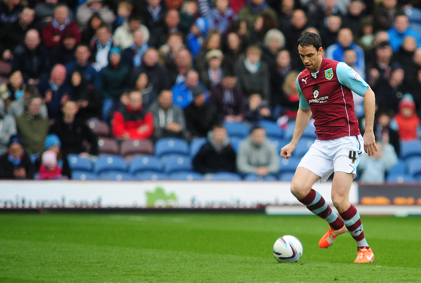 Burnley's Michael Duff <br /> <br /> Photo by Chris Vaughan/CameraSport<br /> <br /> Football - The Football League Sky Bet Championship - Burnley v Middlesbrough - Saturday 12th April 2014 - Turf Moor - Burnley<br /> <br /> &copy; CameraSport - 43 Linden Ave. Countesthorpe. Leicester. England. LE8 5PG - Tel: +44 (0) 116 277 4147 - admin@camerasport.com - www.camerasport.com