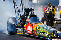 Mar 18, 2017; Gainesville , FL, USA; NHRA top fuel driver Terry McMillen during qualifying for the Gatornationals at Gainesville Raceway. Mandatory Credit: Mark J. Rebilas-USA TODAY Sports