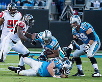 The Carolina Panthers defeated the Atlanta Falcons 34-10 in an inter-division rivalry played in Charlotte, NC at Bank of America Stadium.  Carolina Panthers running back Jonathan Stewart (28)