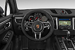 Car pictures of steering wheel view of a 2018 Porsche Macan S 5 Door SUV Steering Wheel