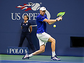 5th September 2017, Flushing Meadowns, New York, USA;  Sam Querrey (USA) in action during his quarter-final match at the US Open, played at the USTA Billie Jean King National Tennis Center, Flushing , NY