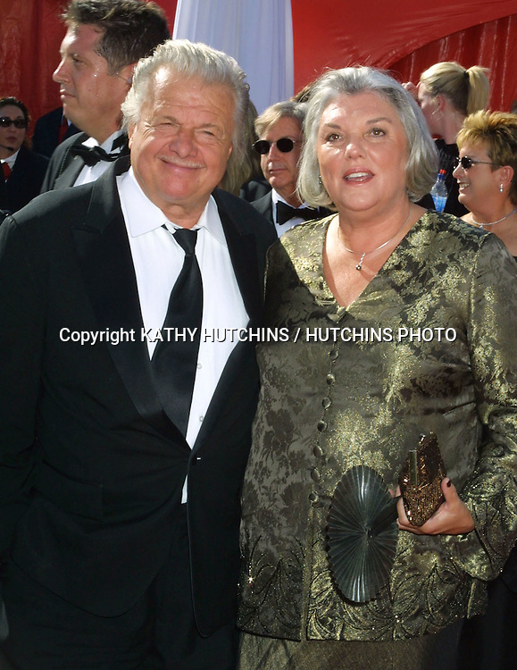 ©2003 KATHY HUTCHINS / HUTCHINS PHOTO.55TH  ANNUAL EMMYS.SHRINE AUDITORIUM.LOS ANGELES, CA    9/21/03.JOHN KARLEN AND TYNE DALY