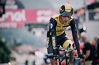 George Bennett (NZL/LottoNL-Jumbo) crossing the finish line<br /> <br /> stage 16: Trento &ndash; Rovereto iTT (34.2 km)<br /> 101th Giro d'Italia 2018