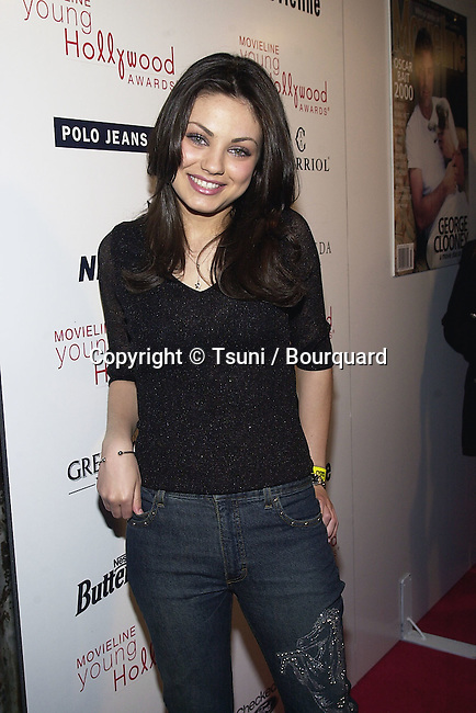 "Mila Kunis arriving at the 3rd Movieline Magazine Young Hollywood Awards at the House of Blue  "" in Los Angeles  4/29/2001  © Tsuni          -            KunisMila09.jpg"