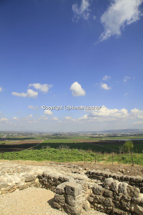 Israel, Jezreel valley, ruins of the Moslem fortress on Tel Yokneam