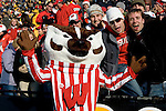 IOWA CITY, IA - NOVEMBER 11: Mascot Bucky Badgers of the Wisconsin Badgers poses for the camera during the game against the Iowa Hawkeyes at Kinnick Stadium on November 11, 2006 in Iowa City, Iowa. The Badgers beat the Hawkeyes 24-21. (Photo by David Stluka)