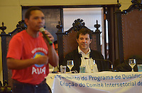 SAO PAULO, 24 DE MARCO DE 2013 - HADDAD FORMACAO PARA POPULACAO DE RUA - O Prefeito Fernando Haddad durante solenidade de lançamento do programa de formação profissional para população de rua, parceria da prefeitura e Senai, no Salão Nobre da Faculdade São Francisco, região central da capital, na tarde desta segunda feira, 25. (FOTO: ALEXANDRE MOREIRA / BRAZIL PHOTO PRESS)
