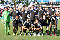 Earthquakes Starting XI pose together for group photo before the game against Chivas USA at Buck Shaw Stadium in Santa Clara, California on September 2nd, 2012.   San Jose Earthquakes defeated Chivas USA, 4-0.