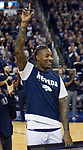 Nevada's Jordan Caroline (24) waves to fans on during senior night before an NCAA college basketball game against San Diego State in Reno, Nev., Saturday, March 9, 2019. (AP Photo/Tom R. Smedes)