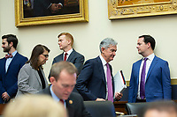 Chair of the Federal Reserve Jerome Powell arrives to testify before the U.S. House Committee on Financial Services at the United States Capitol in Washington D.C., U.S. on Tuesday, February 11, 2020.  <br /> <br /> Credit: Stefani Reynolds / CNP/AdMedia
