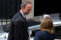 Gavin Barwell (Theresa May's chief of staff who was appointed on Saturday 10 June 2017, after losing his seat as MP of Croydon Central in the General Election 2017).<br /> <br /> London, 12/06/2017. Today, Theresa May's reshuffled Cabinet met at 10 Downing Street after the General Election of the 8 June 2017. Philip Hammond MP - not present in the photos - was confirmed as Chancellor of the Exchequer. <br /> After 5 years of the Coalition Government (Conservatives &amp; Liberal Democrats) led by the Conservative Party leader David Cameron, and one year of David Cameron's Government (Who resigned after the Brexit victory at the EU Referendum held in 2016), British people voted in the following way: the Conservative Party won 318 seats (42.4% - 13,667,213 votes &ndash; 12 seats less than 2015), Labour Party 262 seats (40,0% - 12,874,985 votes &ndash; 30 seats more then 2015); Scottish National Party, SNP 35 seats (3,0% - 977,569 votes &ndash; 21 seats less than 2015); Liberal Democrats 12 seats (7,4% - 2,371,772 votes &ndash; 4 seats more than 2015); Democratic Unionist Party 10 seats (0,9% - 292,316 votes &ndash; 2 seats more than 2015); Sinn Fein 7 seats (0,8% - 238,915 votes &ndash; 3 seats more than 2015); Plaid Cymru 4 seats (0,5% - 164,466 votes &ndash; 1 seat more than 2015); Green Party 1 seat (1,6% - 525,371votes &ndash; Same seat of 2015); UKIP 0 seat (1.8% - 593,852 votes); others 1 seat. <br /> The definitive turn out of the election was 68.7%, 2% higher than the 2015.<br /> <br /> For more info about the election result click here: http://bbc.in/2qVyNRd &amp; http://bit.ly/2s9ob51<br /> <br /> For more info about the Cabinet Ministers click here: https://goo.gl/wmRYRd