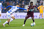 CD Leganes's  Oscar Rodriguez Arnaiz (L) and RC Celta de Vigo's Pione Sisto during La Liga match 2019/2020 round 16<br /> December 8, 2019. <br /> (ALTERPHOTOS/David Jar)