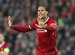 Virgil Van Dijk of Liverpool during the Champions League Semi Final 1st Leg match at Anfield Stadium, Liverpool. Picture date: 24th April 2018. Picture credit should read: Simon Bellis/Sportimage