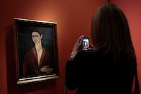 Autoritratto con vestito di velluto - Self portrait with velvet dress<br /> Roma 18-03-2014 Scuderie del Quirinale. Inaugurazione vernissage della mostra dedicata a Frida Kahlo.<br /> Opening of the exhibition of Frida Kahlo.<br /> Photo Samantha Zucchi Insidefoto