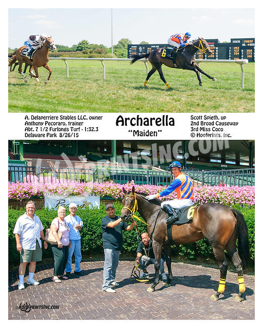 Archarella winning at Delaware Park on 8/26/15