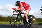 Maria Bertelsen of Denmark in action during the Women Junior Individual Time Trial of the UCI World Championships 2019 running 13.7km from Harrogate to Harrogate, England. 23rd September 2019.<br /> Picture: Alex Whitehead/SWPix.com | Cyclefile<br /> <br /> All photos usage must carry mandatory copyright credit (© Cyclefile | Alex Whitehead/SWPix.com)