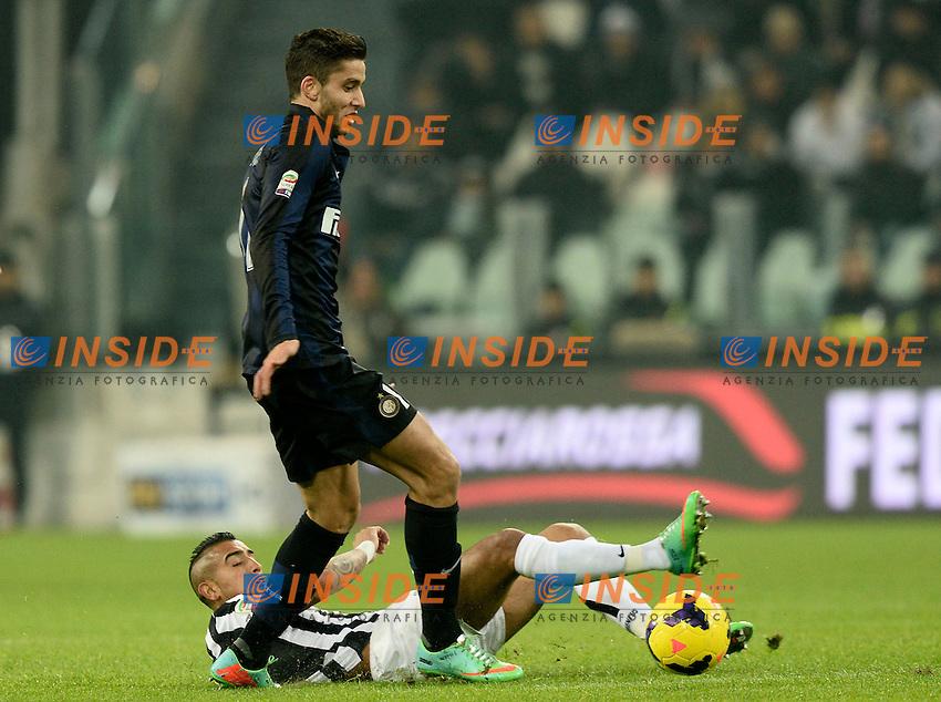 Ricardo Alvarez Inter, Arturo Vidal Juventus <br /> Torino 02-02-2014 Juventus Stadium. Football Calcio Serie A 2013/2014 Juventus - Inter. foto Image Sport/Insidefoto