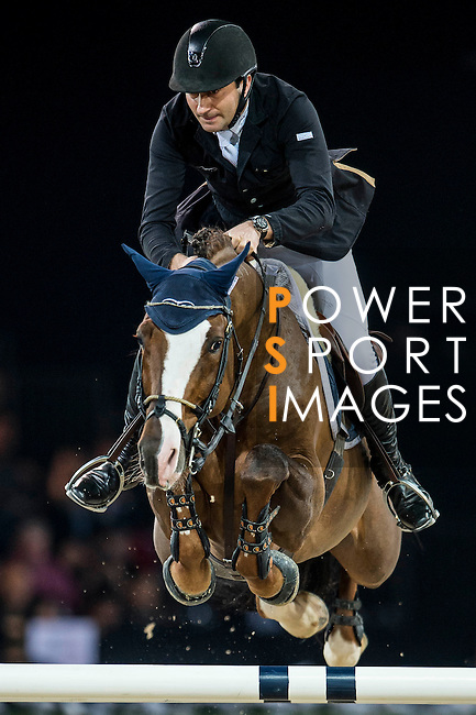 Piergiorgio Bucci of Italy rides Casallo Z in action at the Longines Grand Prix during the Longines Hong Kong Masters 2015 at the AsiaWorld Expo on 15 February 2015 in Hong Kong, China. Photo by Juan Flor / Power Sport Images