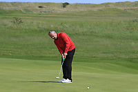Pat Murray (Clontarf) on the 9th green during Round 4 of The East of Ireland Amateur Open Championship in Co. Louth Golf Club, Baltray on Monday 3rd June 2019.<br /> <br /> Picture:  Thos Caffrey / www.golffile.ie<br /> <br /> All photos usage must carry mandatory copyright credit (© Golffile | Thos Caffrey)