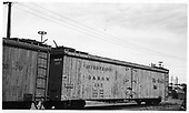 D&amp;RGW refrigerator car #165 in Alamosa shop yard.<br /> D&amp;RGW  Alamosa, CO  Taken by Berkstresser, George - 6/1967