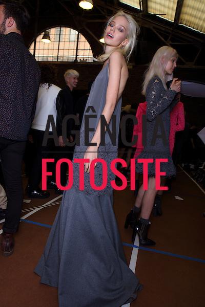 Nova Iorque, EUA &ndash; 02/2014 - Desfile de DKNY durante a Semana de moda de Nova Iorque - Inverno 2014. <br /> Foto: FOTOSITE