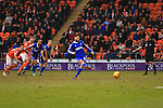 Forest's Henri Lansbury scores his sides second equalising goal - Blackpool vs. Nottingham Forest - Skybet Championship - Bloomfield Road - Blackpool - 14/02/2015 Pic Philip Oldham/Sportimage