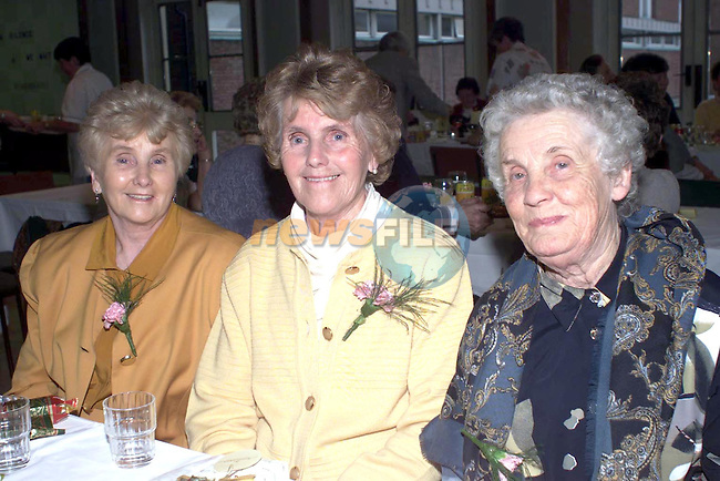 Anna Maguire Pears Park, Cathleen Lynch Ballsgrove and Tees O'Brien The Mount at the Lourdes Hospital retired christmas party..Pic Fran Caffrey Newsfile..Camera:   DCS620C.Serial #: K620C-01974.Width:    1728.Height:   1152.Date:  1/12/99.Time:   15:24:08.DCS6XX Image.FW Ver:   1.9.6.TIFF Image.Look:   Product.Tagged.Counter:    [375].Shutter:  1/60.Aperture:  f5.0.ISO Speed:  200.Max Aperture:  f1.8.Min Aperture:  f21.Focal Length:  28.Exposure Mode:  Program AE (P).Meter Mode:  Color Matrix.Drive Mode:  Continuous High (CH).Focus Mode:  Single (AF-S).Focus Point:  Center.Flash Mode:  Normal Sync.Compensation:  +0.0.Flash Compensation:  +0.0.Self Timer Time:  10s.White balance: Auto (Flash).Time: 15:24:08.180.
